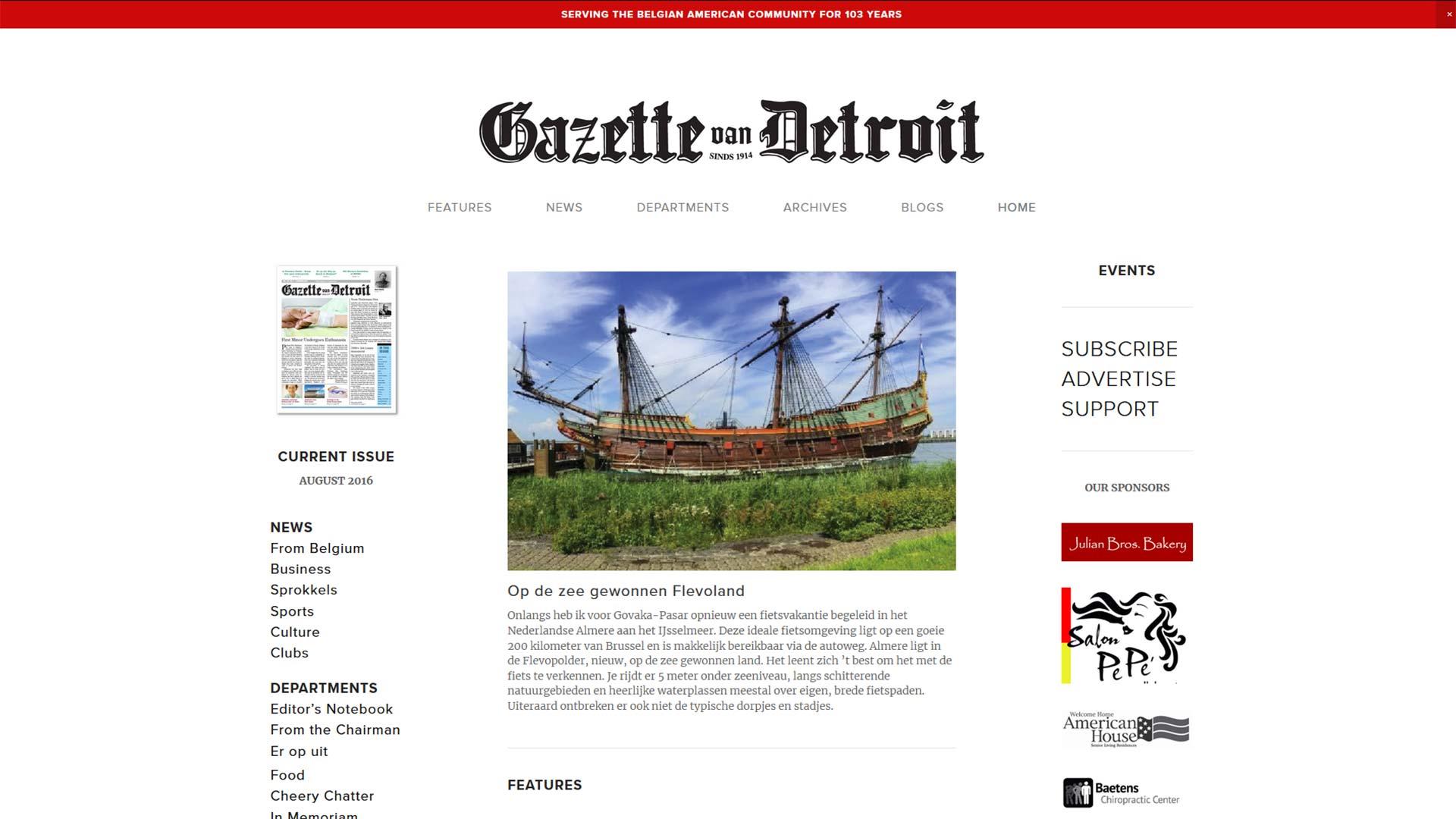 Gazette van Detroit stopt ermee