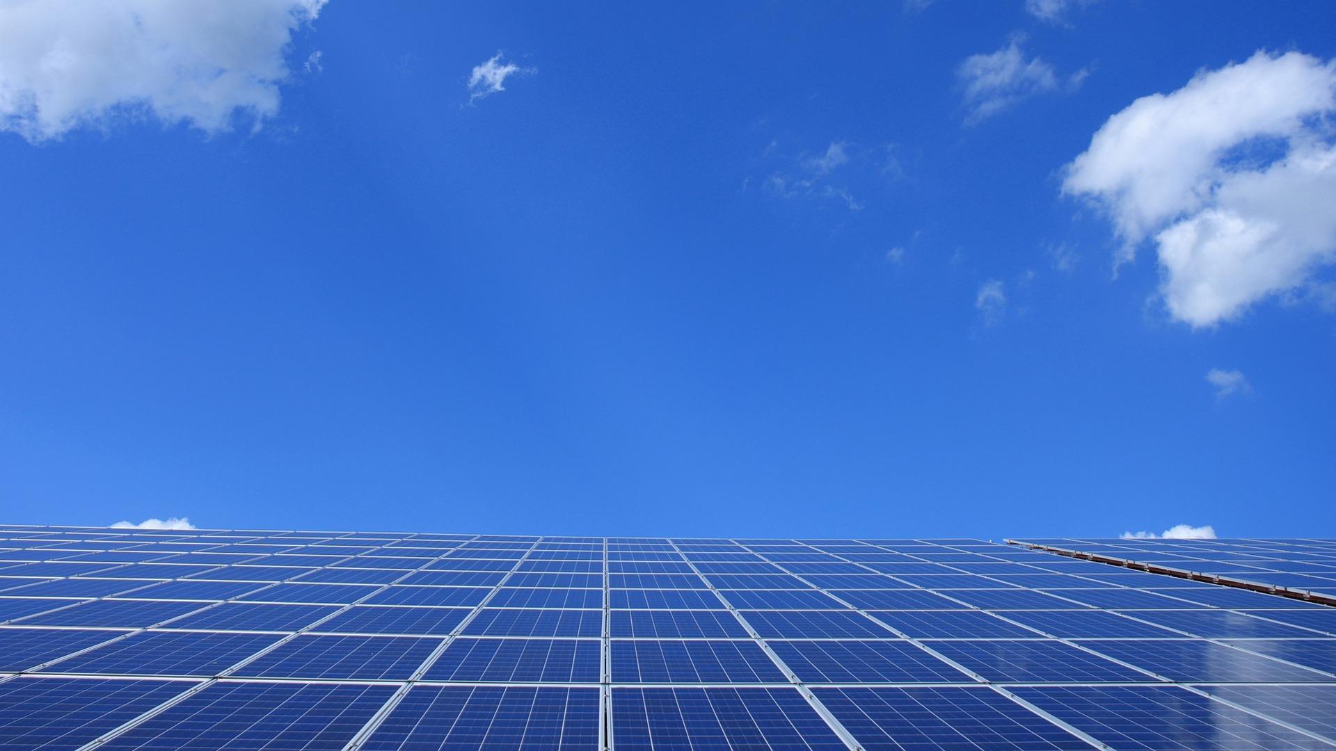 De ondersteuning van zonneparken