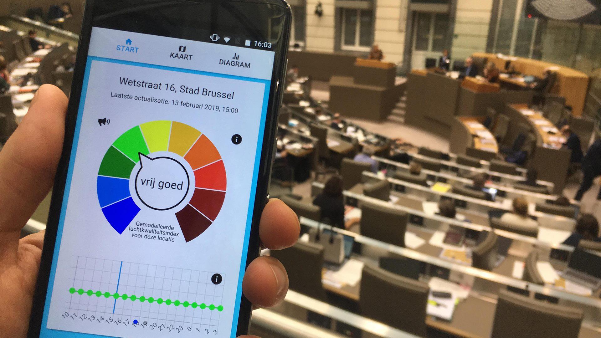 App die luchtkwaliteit weergeeft is onnauwkeurig