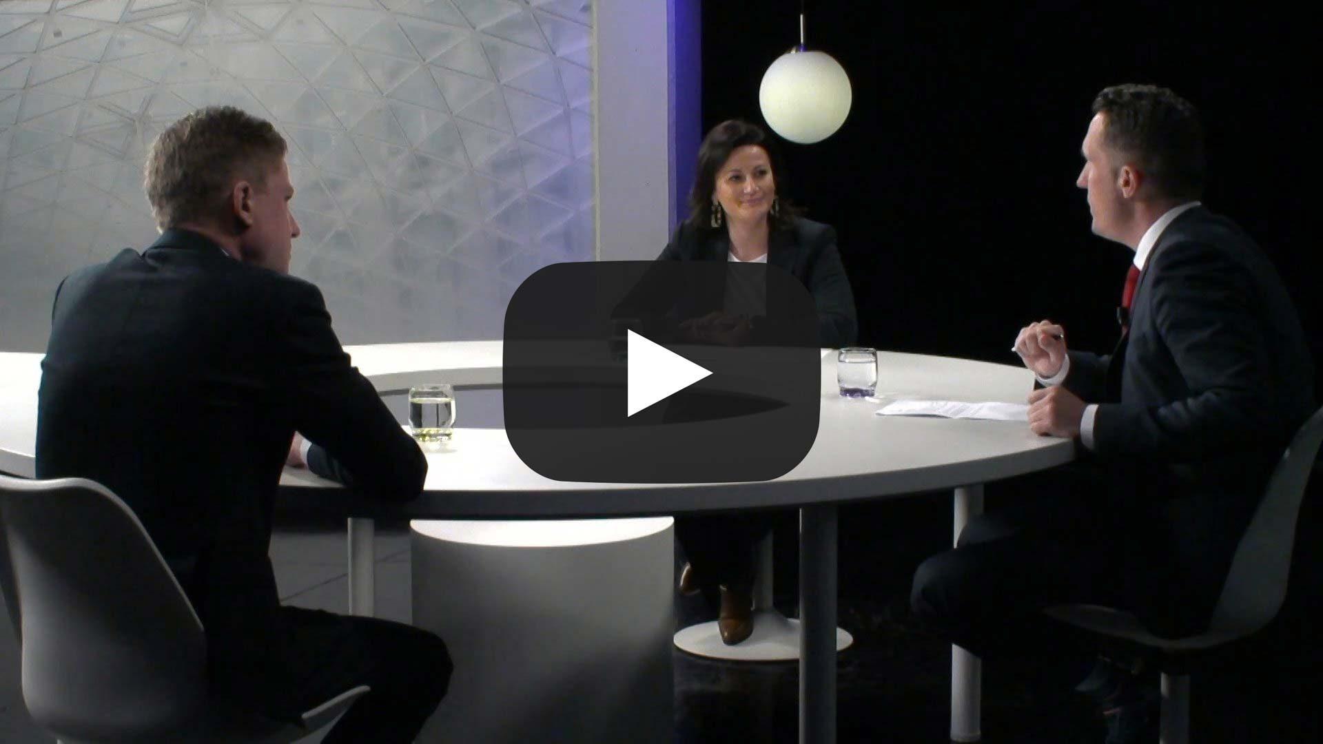 Stephanie D'Hose (Open Vld) en Filip Brusselmans (Vlaams Belang)