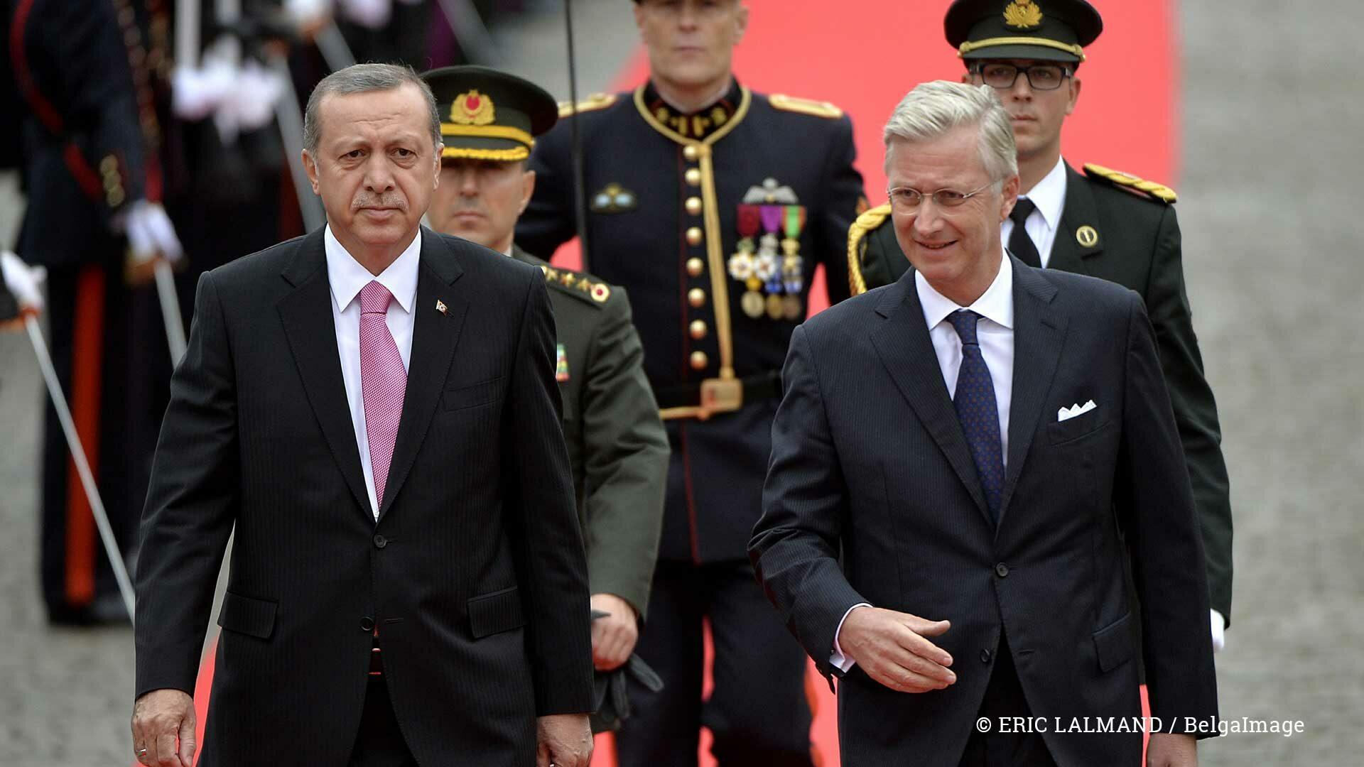 Recep Tayyip Erdogan en koning Filip (2015)